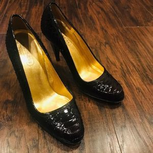Authentic Coach Stela black real leather heels
